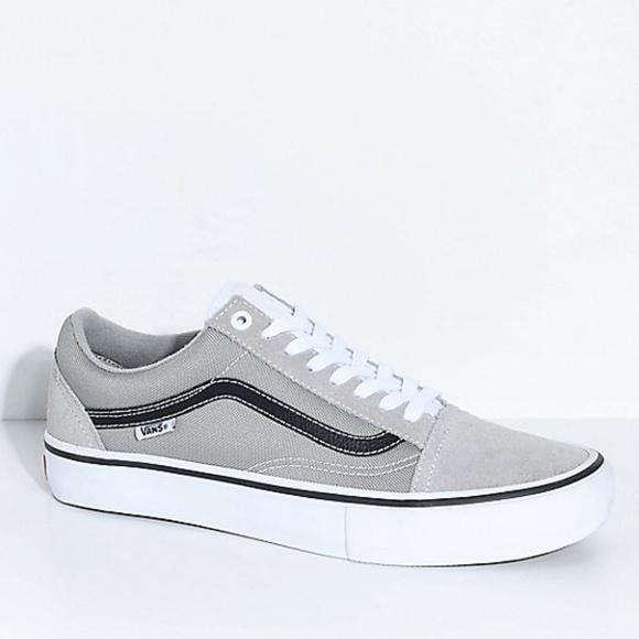 27814ef9ca Vans Old Skool Pro Drizzle Grey Skate Shoes Men s.  M 5b92bc83035cf1609c6ccc71